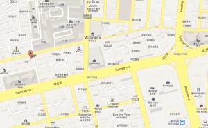Oishi Ramen, Nam-gu Map