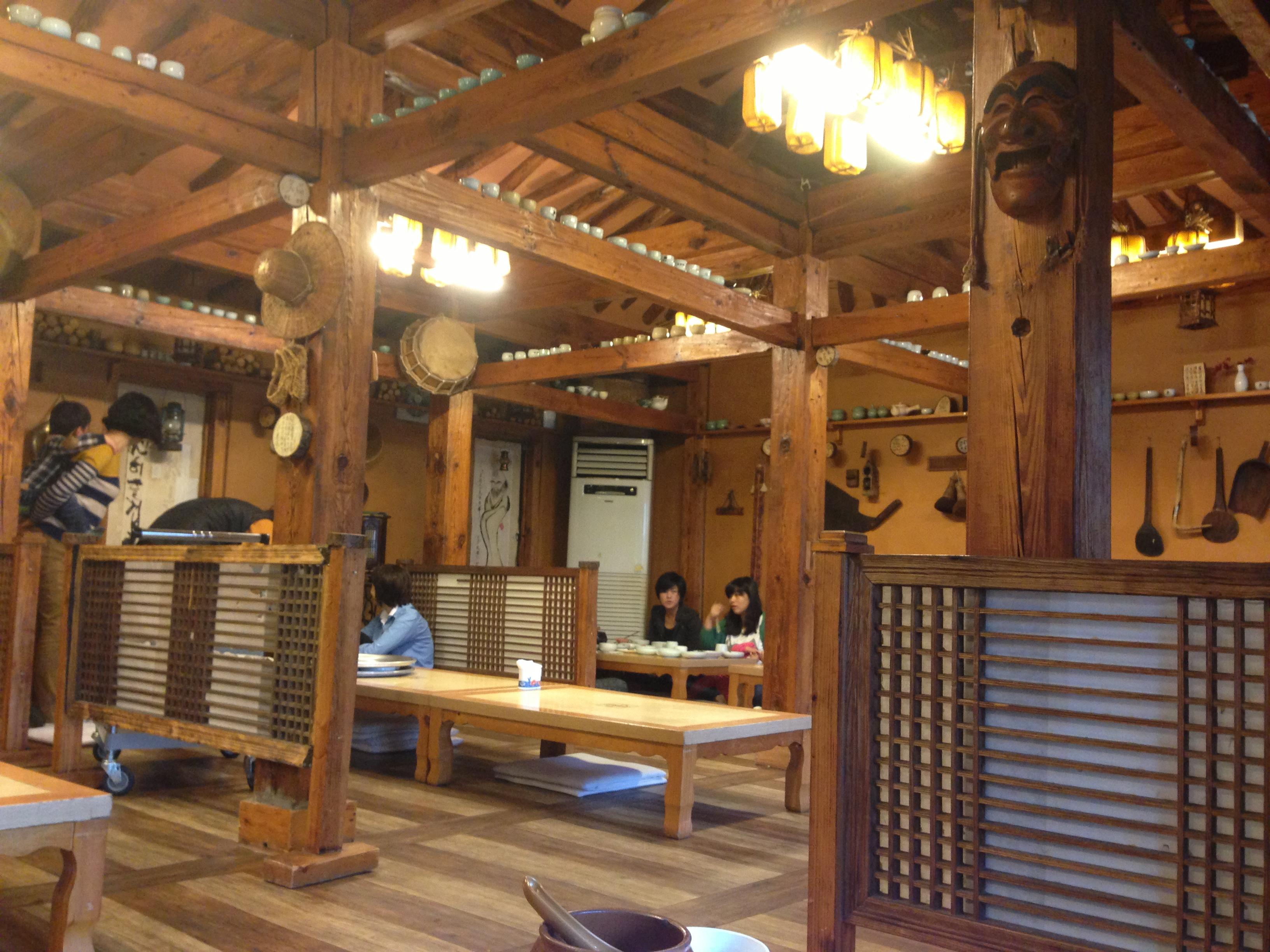 Traditional korean restaurant interior